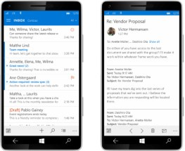 Windows 10 for Phone Mail