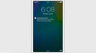 Apple iOS 9 Lockscreen Calendar