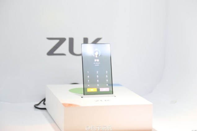 ZUK transparent screen phone prototype 6