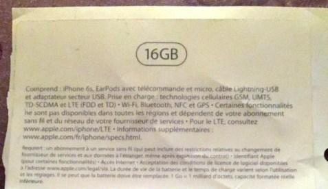 iPhone 6S packaging leak 2