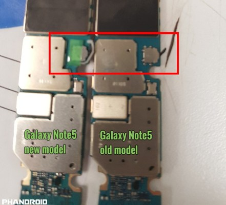 Samsung Galaxy Note5 new motherboard