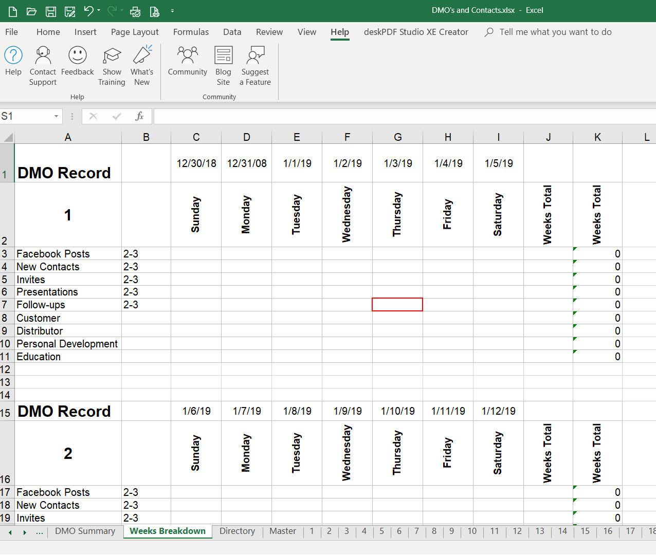 Count Dates In Multiple Worksheets And Display In A Summary Sheet