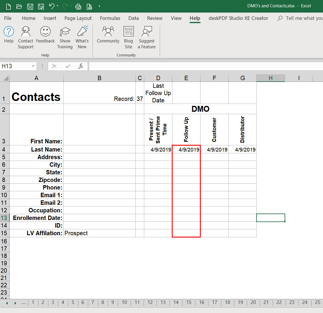 Count Dates In Multiple Worksheets And Display In A