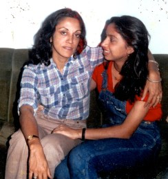 Shonali Bose with her mother