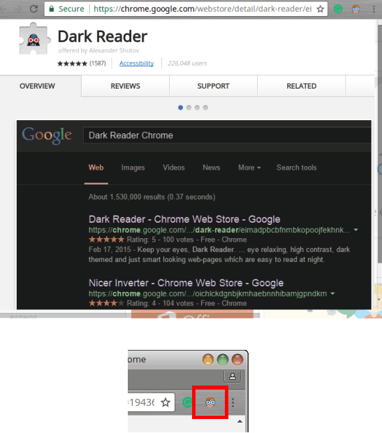 Dark Reader Chrome
