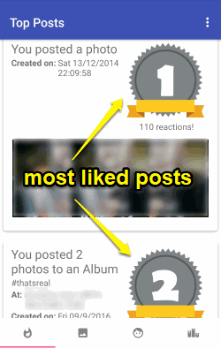 see most liked facebook posts
