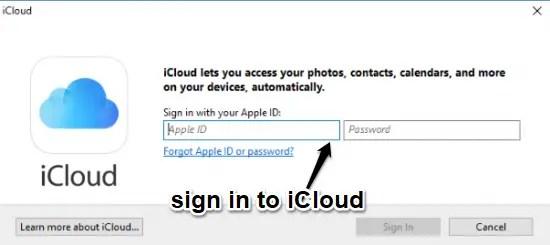 How to Use iCloud on Windows 10 PC