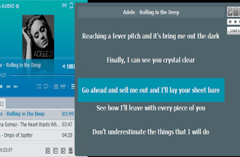 Music Player Which Shows Lyrics With the Song, Sync Lyrics With MP3