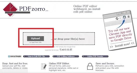pdfzorro upload pdf