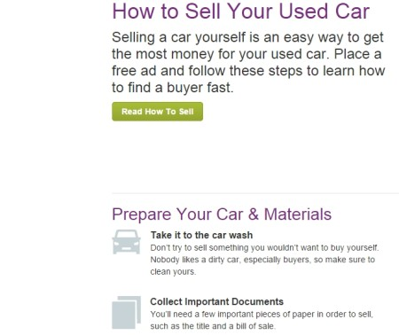 sell used cars online