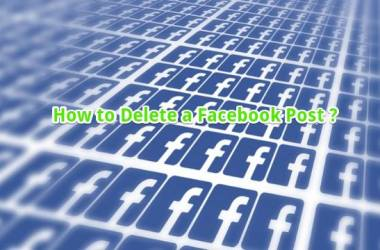 how to delete a facebook post from timeline