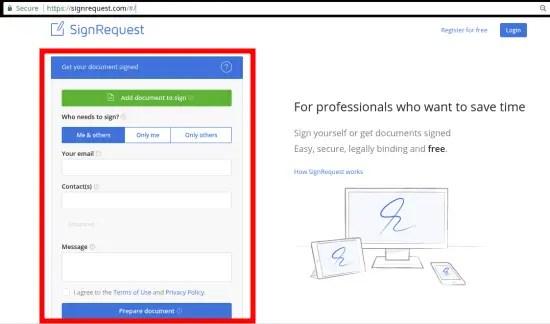 SignRequest interface