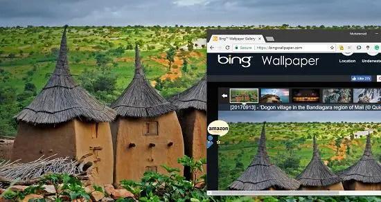 Bing image of the day as dekstop wallpaper