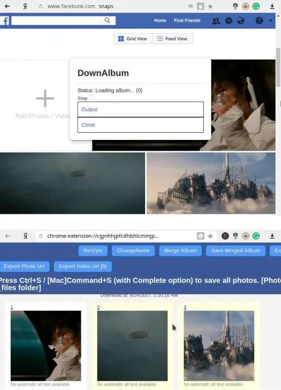downalbum thumbnail page