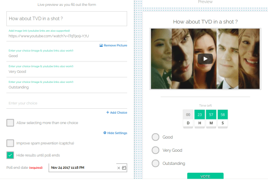 Create Real-Time Polls
