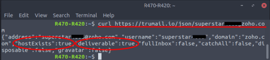 trumail email verification in command line
