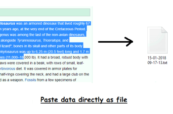 How to Paste Image or Text from Clipboard Directly as File in Windows 10