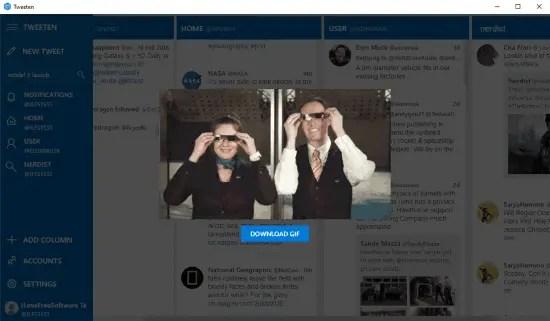 Tweetdeck Alternative and Desktop Client: Tweeten