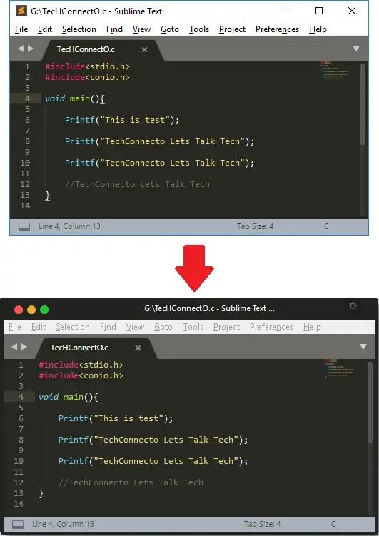 Subliame Text mac os x like overlay