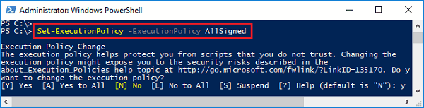set policy in powershell