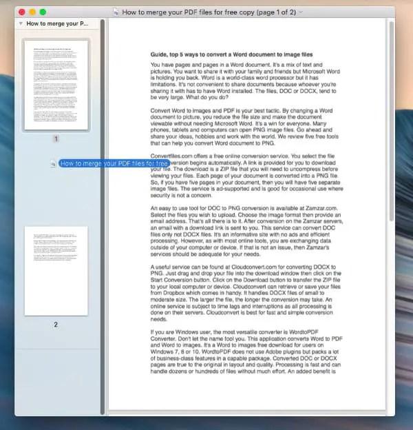 pdf merger for mac