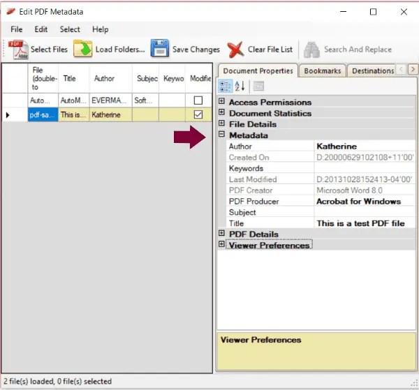 Edit PDF Metadata pdf metadata editor