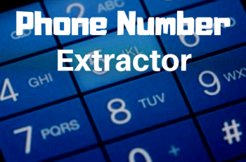 phone number extractor