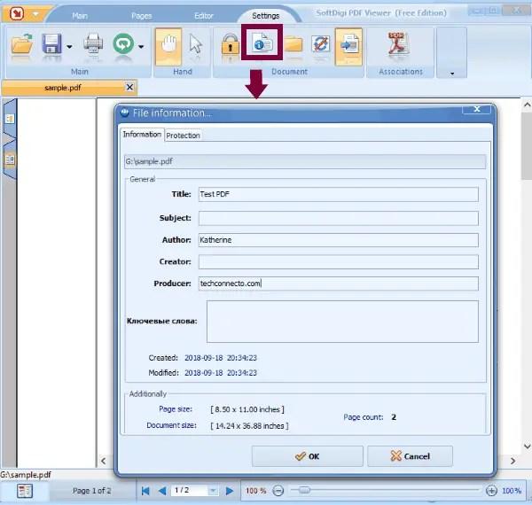 SoftDigi PDF Viewer pdf metadata editor