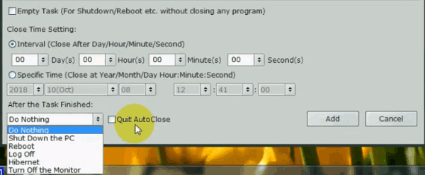 close programs automatically
