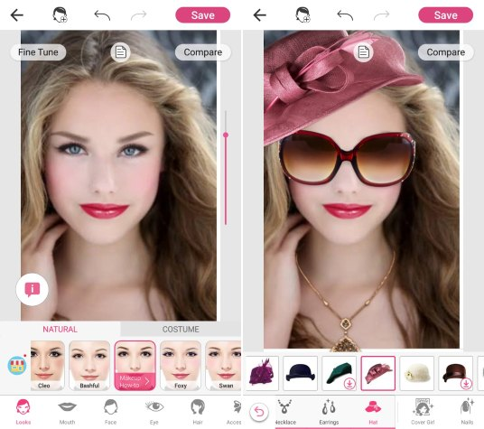YouCam Makeup is one of the highly rated makeup editor apps for Android. You can makeover your lips, eyes, eyebrows, teeth, etc., and edit images with fun ...