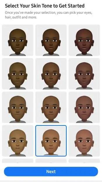 choose skin tone