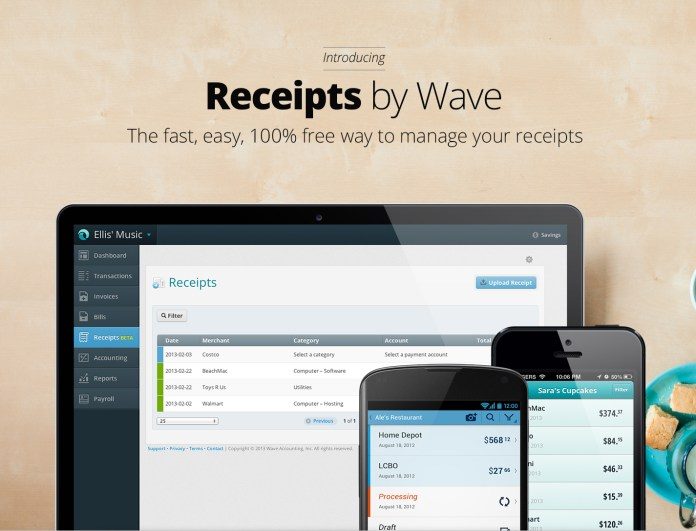 Image result for receipts by wave