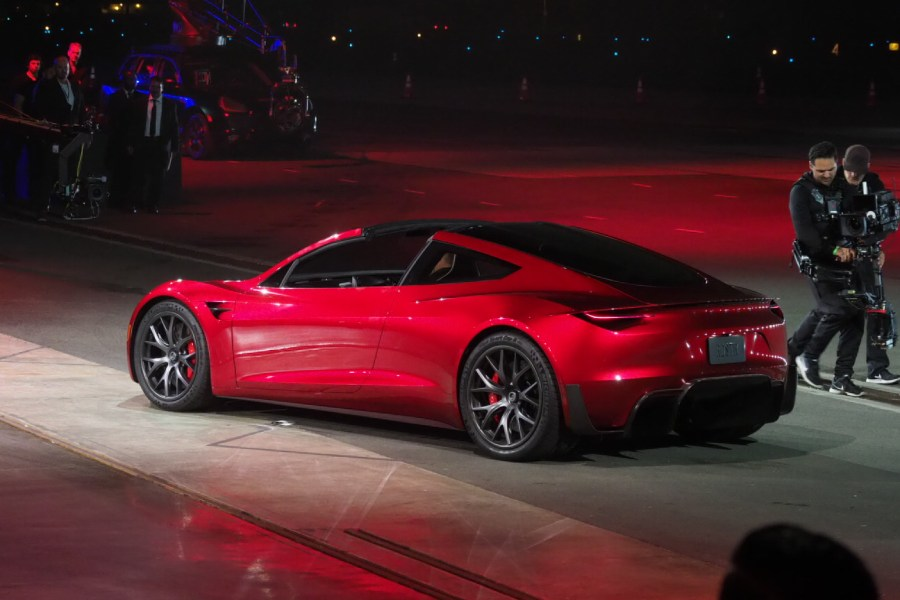 Tesla unveils the new Roadster   TechCrunch Tesla unveils the new Roadster