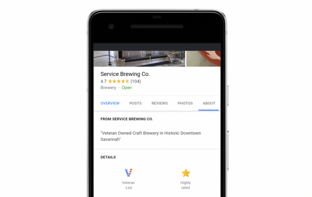 Google adds new features to help U.S. veterans find jobs or highlight their businesses