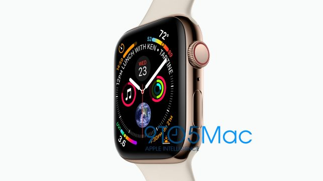 Leak reveals a new Apple Watch Series 4 with an edge-to-edge display