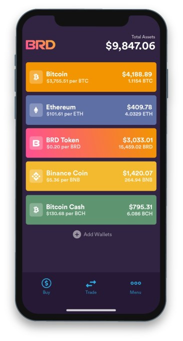 BRD - App - Wallet Screen