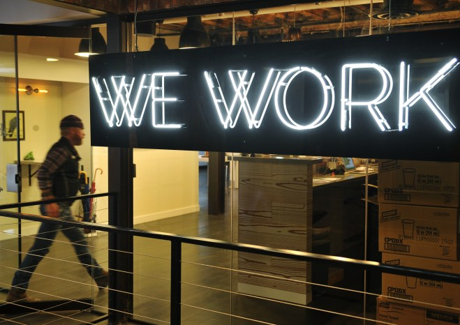 """""""WeWork"""" co-operative co-working space on March 13, 2013 in Washington, DC"""