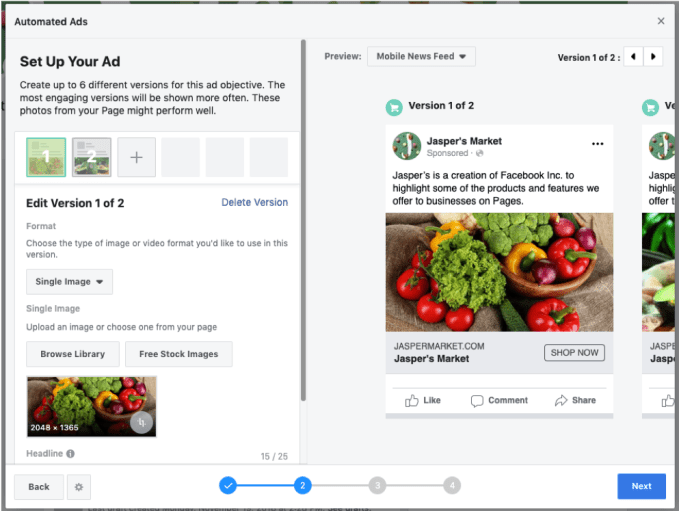 Facebook Computerized Adverts