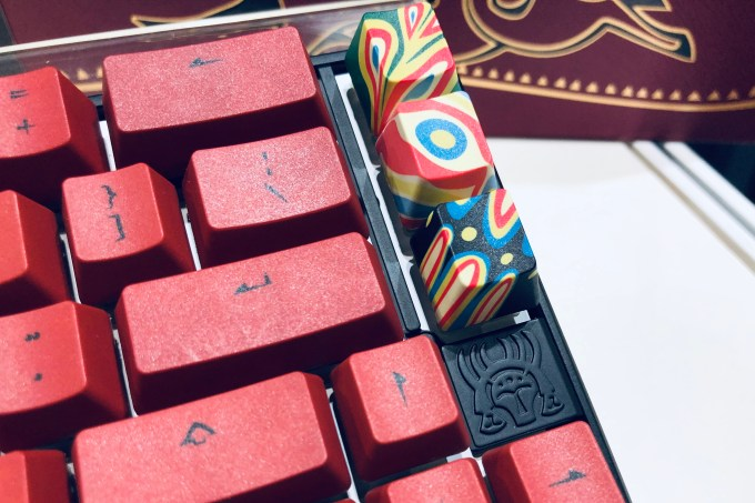 Details from Ducky Keyboard's year of the Pig limited edition mechanical keyboard