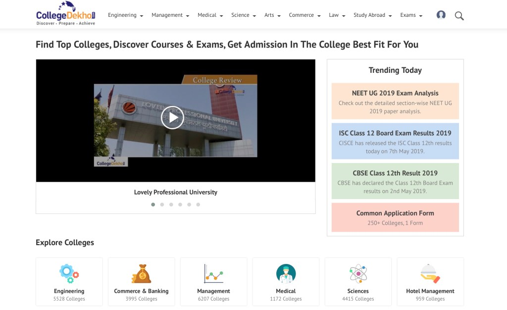 collegedekho screengrab - India's edtech startup CollegeDekho raises $8 million to connect students with colleges