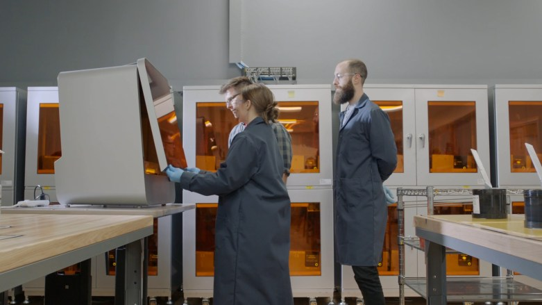 Image of New Balance team with Formlabs 3D printers