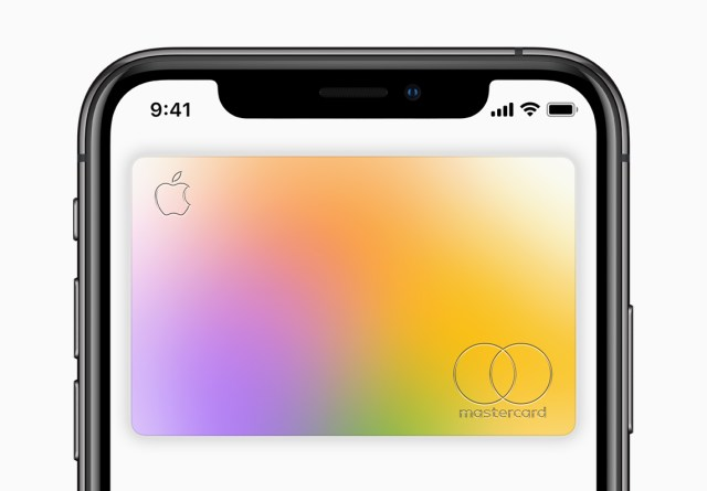 Apple Card available today card on iPhoneXs screen 082019