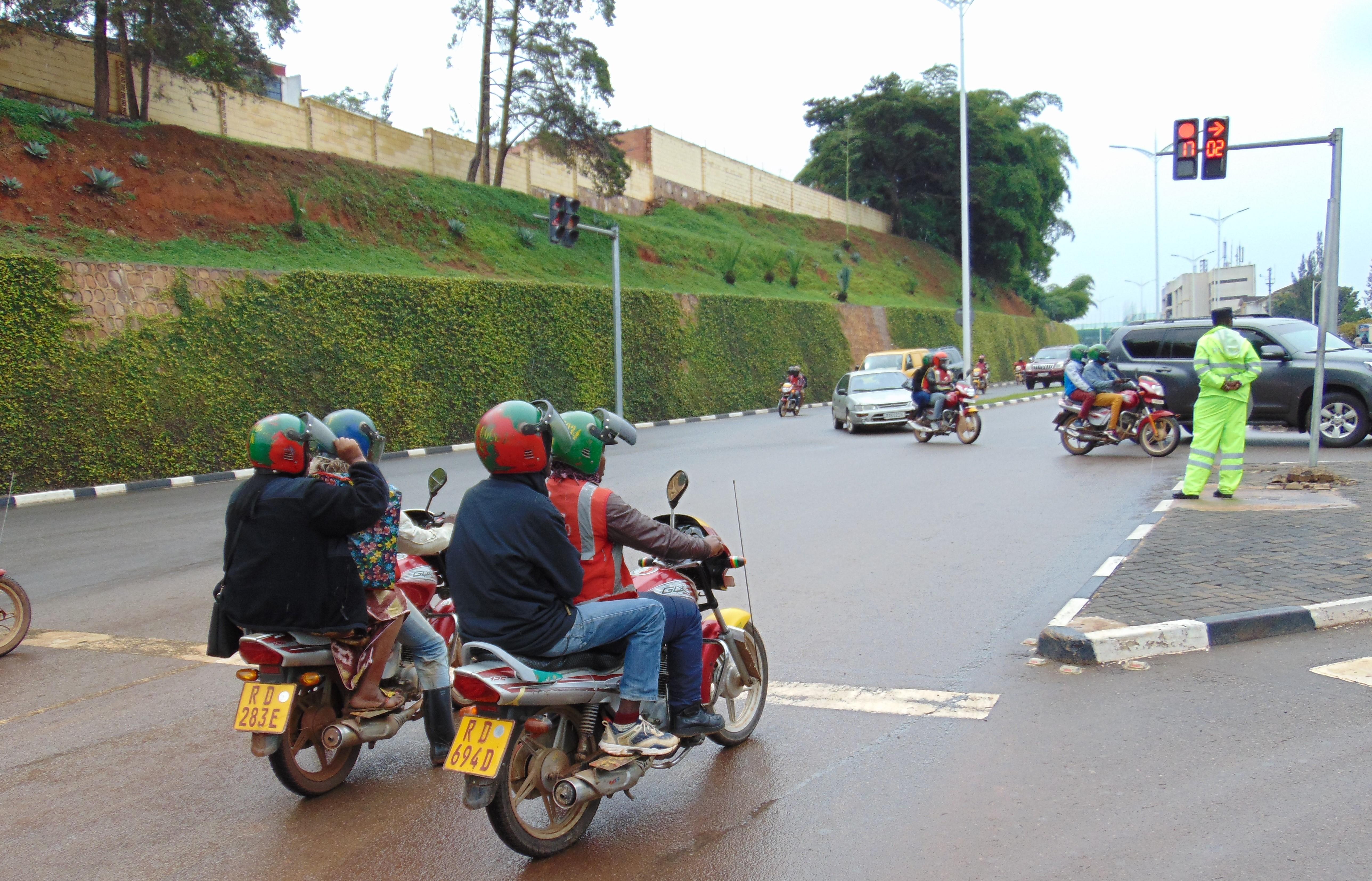 Rwanda motorcycle taxis