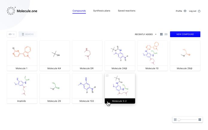 1.1.1 Molecule Dashboard Compounds