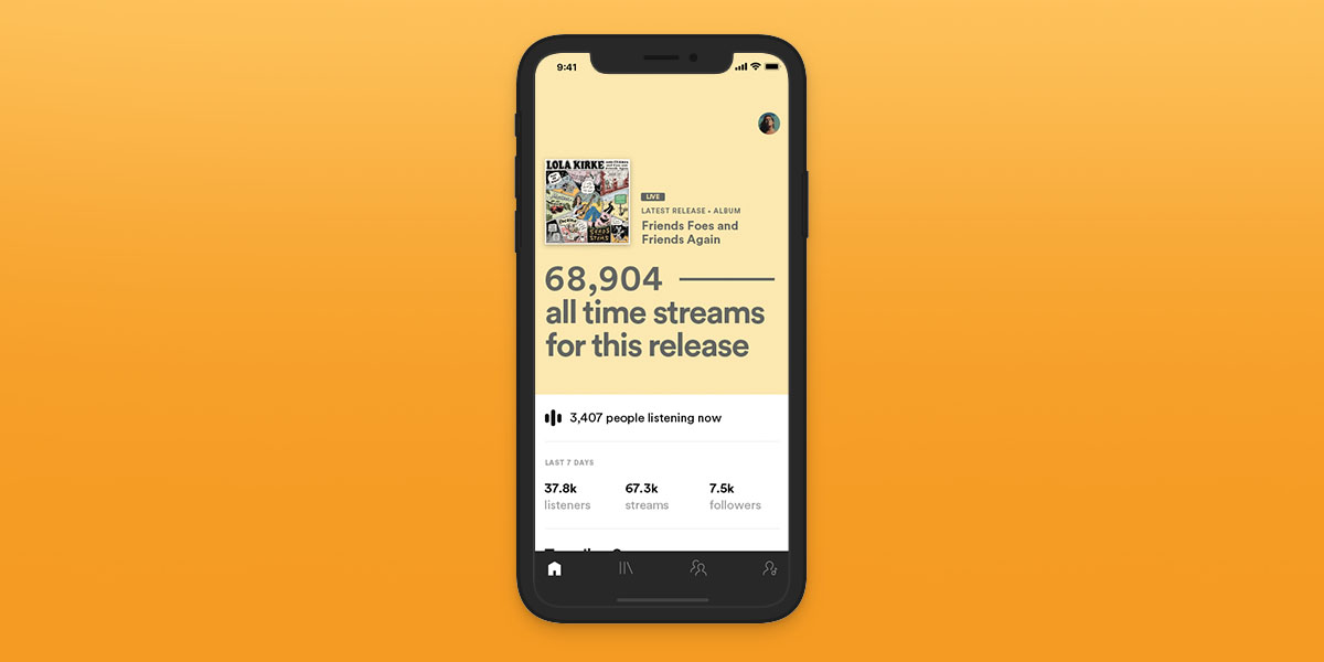 Spotify S App For Artists Gets A Big Revamp Adds Real Time Stats