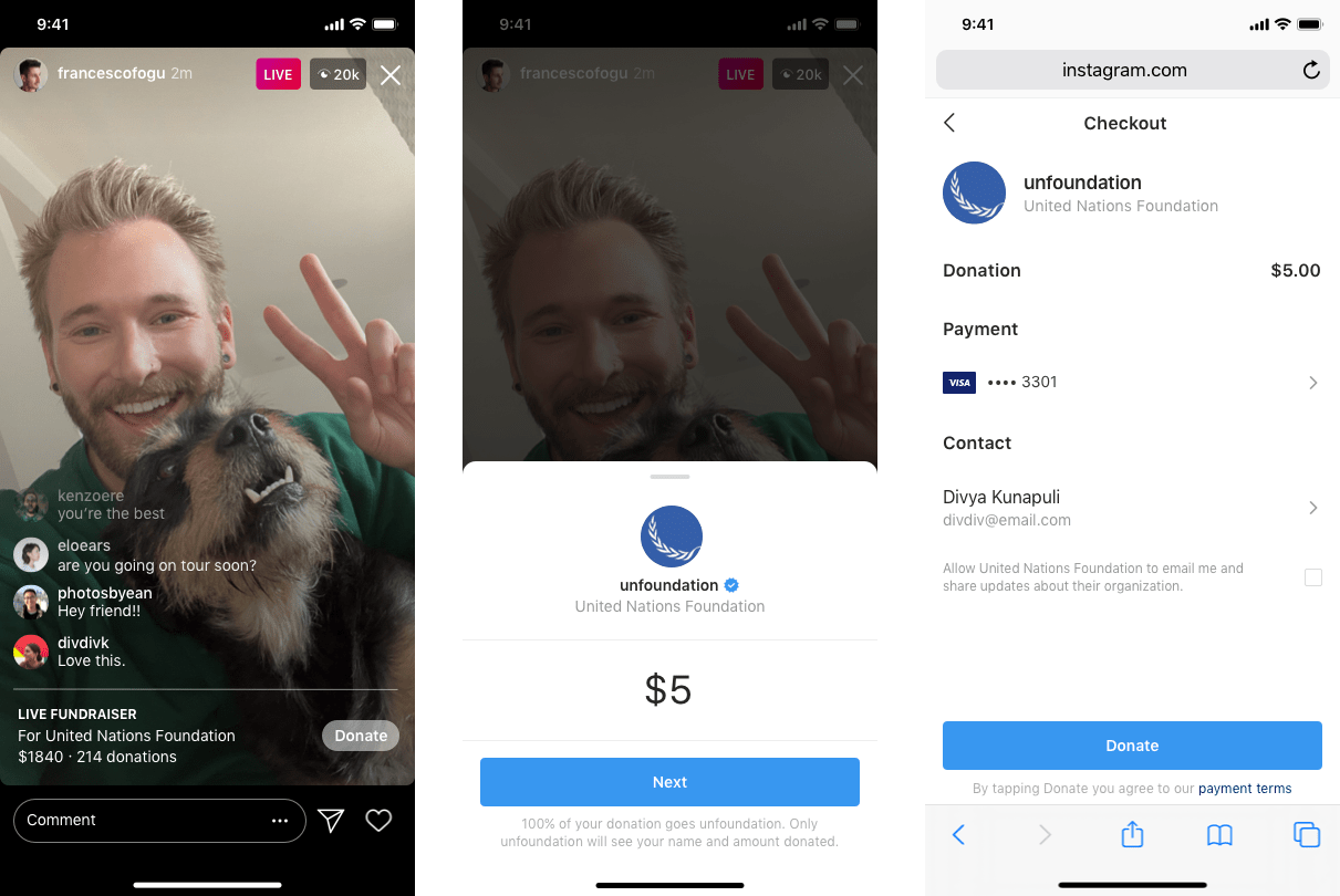 Instagram now allows users to fundraise for nonprofits while live streaming – TechCrunch