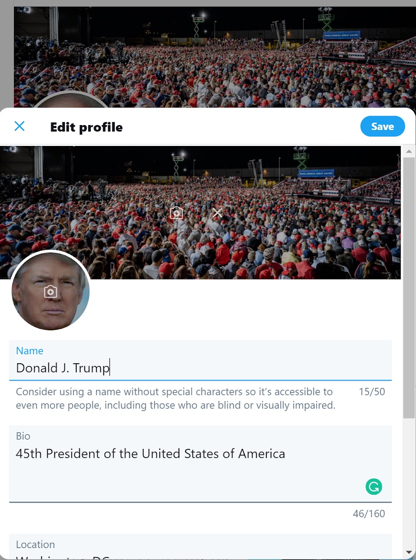 President Trump Twitter Account Hacked