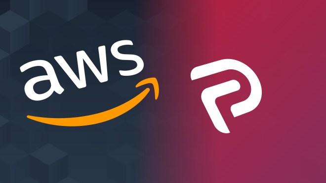 logos for AWS (Amazon Web Services) and Parler