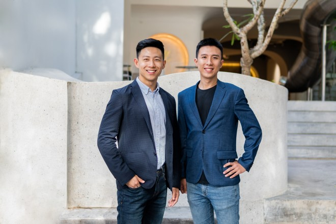 Homebase co-founders Phillip An and Junyuan Tan