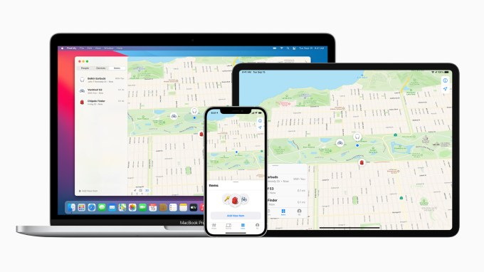 Apple find my network now offers new third party finding experiences macbookpro ipadpro iphone12pro 040721